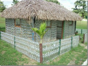 water bottle house
